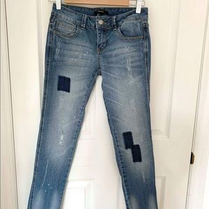 Low Waist Jeans with Distress